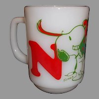Fire King Snoopy Mug NOEL