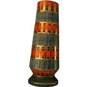 Mid-Century Italy Mosaic Tile Vase Bitossi Londi Style