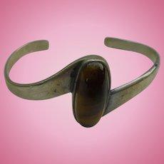 Sterling Silver Tiger's Eye Cuff Bracelet