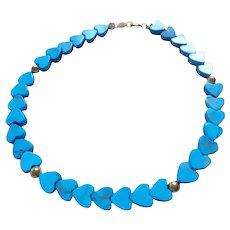 14K Gold Turquoise Heart Theme Bracelet 14K Gold Spacer Beads