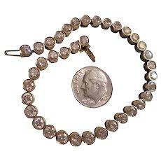 TCW 8.0 18K Gold Genuine Diamond Tennis Bracelet Bezel Set 37 Diamonds