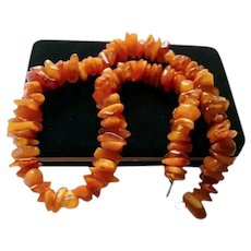 Magnificent Genuine Baltic Amber 80 gram Chunky Beaded Necklace