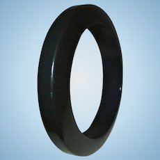 Unusual Geometric Black Bakelite Bangle Bracelet ~ Chic