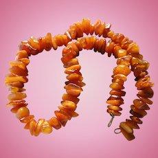 Huge 80 gram Natural Baltic Amber & Egg Yolk Amber Beaded Necklace