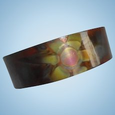 Mid-Century Elzear of Montreal Signed Metal Modernist Cuff Bracelet Canada