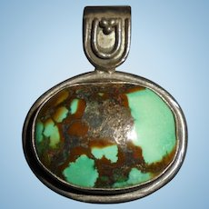 Sterling & Turquoise Southwest Pendant Silver
