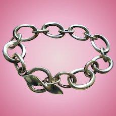Heavy Sterling Silver Chunky Link Bracelet