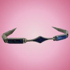 Sterling Lapis Lazuli 950 Silver Bracelet 925