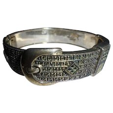 Gorgeous Judith Jack Buckle Style Sterling Silver Marcasite Bracelet