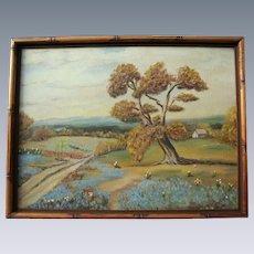 Original Texas Bluebonnets Original Oil Painting Landscape