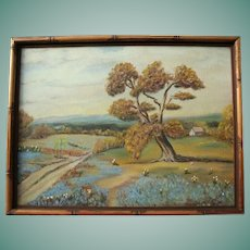 Original Texas Bluebonnets Original Oil Painting Landscape