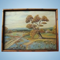 Texas Bluebonnets Original Oil Painting Landscape