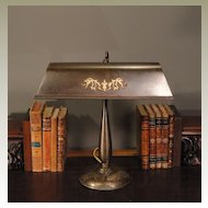 Large Amronlite Double Dragon Head Solid Brass Desk Lamp