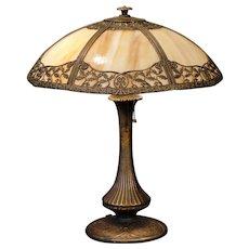 Lovely Delicate Holly Berry Slag Glass Lamp