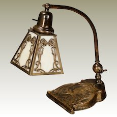 Gorgeous Art Nouveau Lady Piano or Desk Lamp
