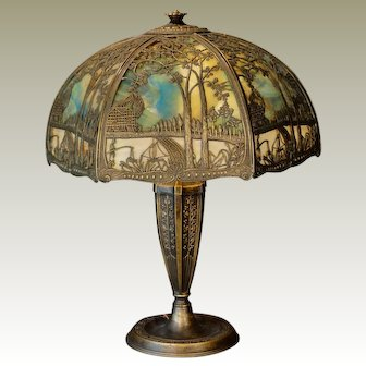 Very Large Double Panel Scenic Lamp