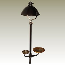 Adjustable Bradley & Hubbard Smoking Floor Lamp