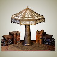 Large Bradley & Hubbard Murano Glass Lamp w/ Tower Base