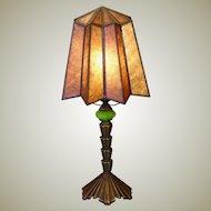 Cool Art Deco Lamp w/ Mica Shade