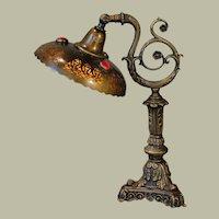Jugendstil Art Nouveau Jeweled Desk/ Dressing Table Lamp