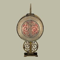 Classic Hubley Art Deco Lamp w/ Mica Drum Shade