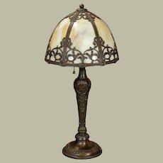 Lovely Ornate Slag Glass Telephone Lamp