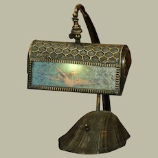 Lovely Mermaid Scaled Desk Lamp w/ Shell Base