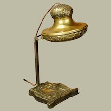 European Jugendstil Art Nouveau Lady Head Desk Lamp