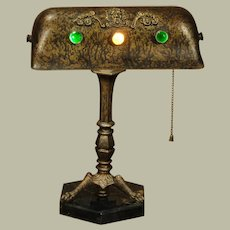 The Wind God Claw Footed Jeweled Desk Lamp