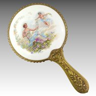 Antique Hand Held Vanity Mirror