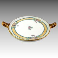 Limoges  Art Nouveau Hand Painted Dish With Handles GDA Mark Gerard Dufraisseix & Abbot