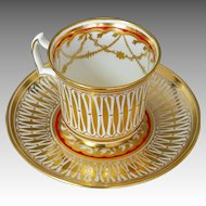 Royal Chelsea Cathedral Cup & Saucer English Bone China 5135