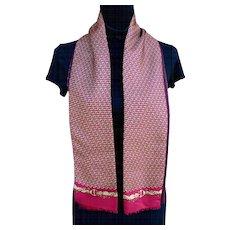 Vintage Gucci  Scarf Equestrian Bits & Buckles 100% Silk & Wool Scarf Paolo Gucci Label