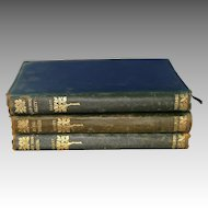 3 Leather Bound Waverley Novels by Sir Walter Scott Late 19th Century