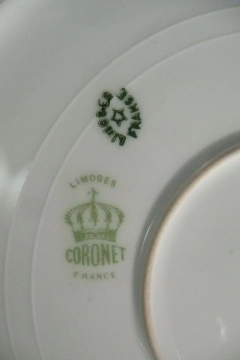 Limoges Coronet Cabinet Plate Artist Signed Hand Painted : Mill Cove ...