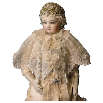 Mixed-Lace Cape for French Fashion Doll