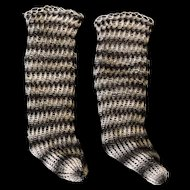 Hand Knitted Doll Stockings