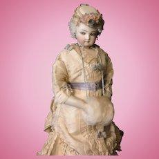 French Fashion Cream Fur Doll Muff