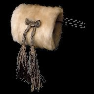 Cream Mohair Muff for French Fashion Doll
