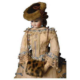 Spotted Faux Fur Doll Muff