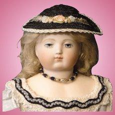 French Fashion Straw Doll Hat