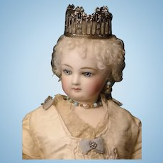 Antique Silvery Metal Crown
