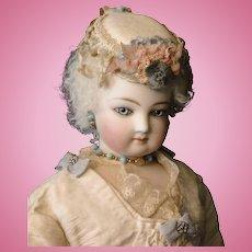 French Fashion Cream Wool Doll Toque