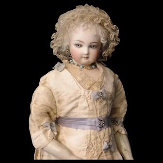 French Fashion Pleated Silk Doll Bonnet