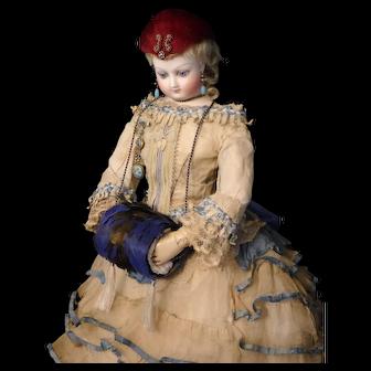 Burgundy Feather French Fashion Doll Hat