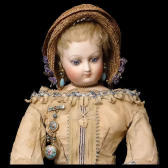 Straw French Fashion Doll Bonnet