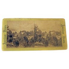WEST POINT American Views Albumen Stereo card New York No. 134-6