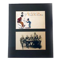 Two Black Humor Americana POSTCARDS Early 1900s Matted