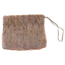 Turn of Century OTTER Muff Large 2 Zipper COMPARTMENTS Purse