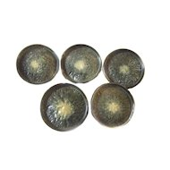 """5 Buttons ART DECO Bakelite Fancy COAT Button 1 9/16"""""""